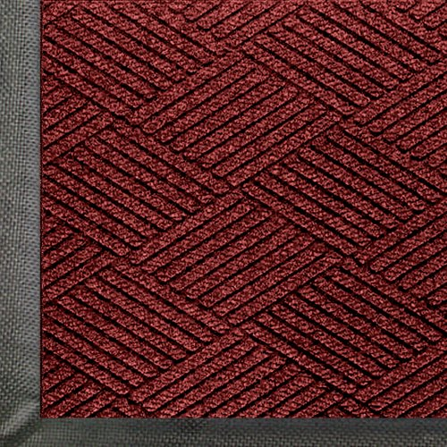 M+A Matting 2295 Regal Red PET Polyester Waterhog ECO Premier Entrance Mat, 3' Length x 2' Width, for Indoor/Outdoor