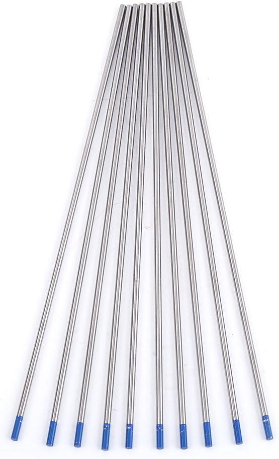 Aussel 12 pezzi dimensioni assortite elettrodi di tungsteno saldatura TIG 0.04 1//16 3 12pcs 4value 32 1//8 punte blu aste di saldatura lantanato blu WL20