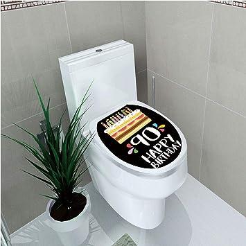 Amazon Toilet Applique 90th Birthday Decorations Colorful