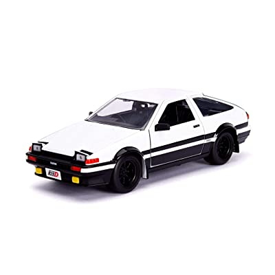 Jada Toyota Trueno (AE86) with Takumi Diecast Figure Initial D First Stage (1998) TV Series Hollywood Rides Series 1/24 Diecast Model Car 99733: Toys & Games [5Bkhe1100088]