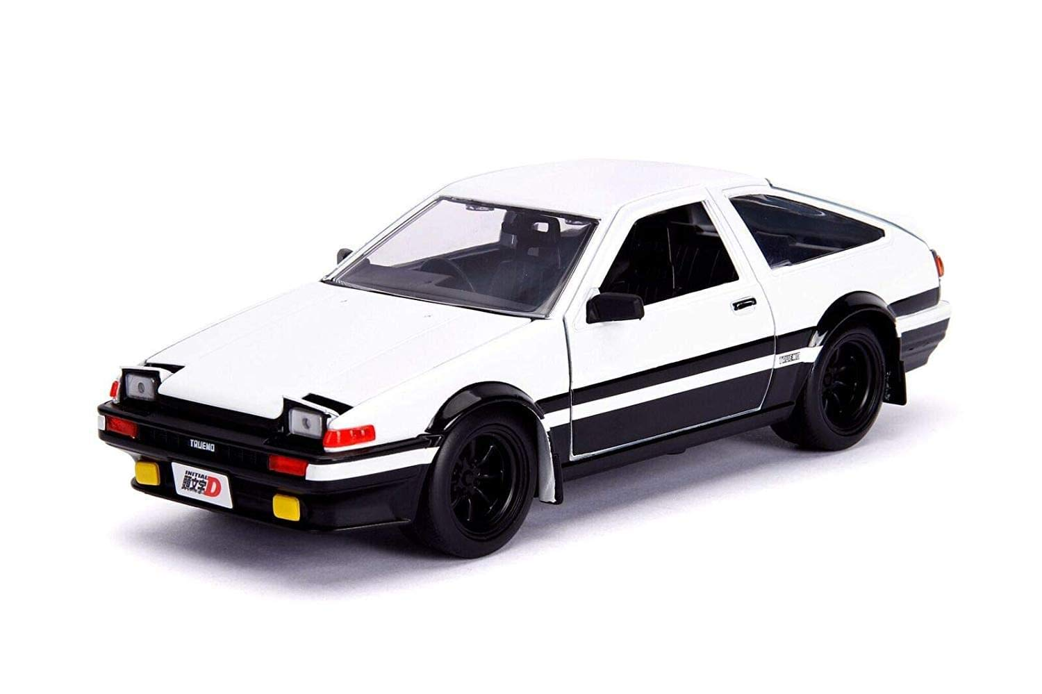 Jada Toys Initial D First Stage (1998) TV Series Hollywood Rides Series Toyota Trueno (AE86) with Takumi Diecast Figure; 1/24 Diecast Model Car