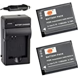 DSTE 2x DMW-BCN10 Battery + DC146 Travel and Car Charger Adapter for Panasonic Lumix DMC-LF1 LF1K LF1W Camera as DMW-BCN10E