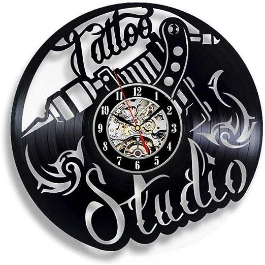 ClockHM Exquisito Reloj de Pared de Disco de Vinilo Máquina de ...