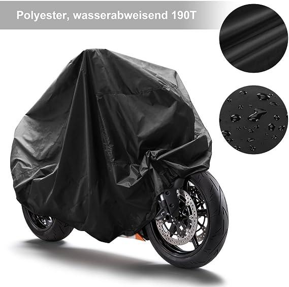Ghb Motorradabdeckung Motorrad Abdeckplane Wasserdicht Motorradgarage 190t Schutzhülle Xl Auto