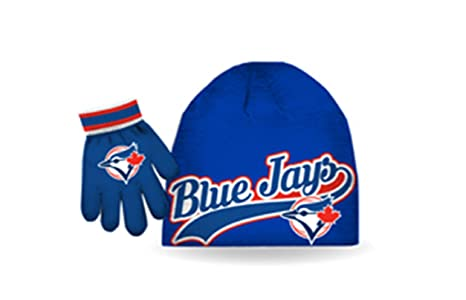 1ec172aa94e Image Unavailable. Image not available for. Colour  MLB Boy s Toronto Blue  Jays Beanie   Gloves Giftset Size ...