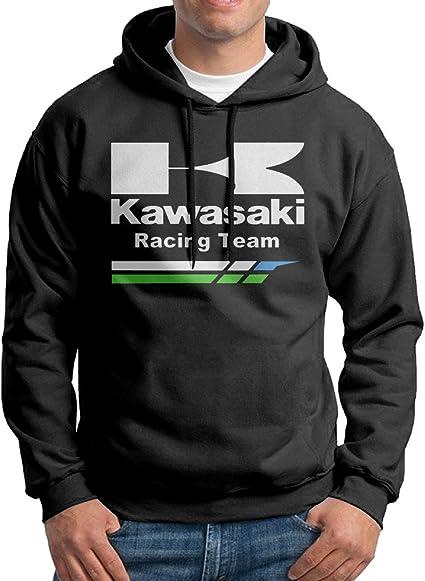 Kawasaki Racing Team Men Pullover Black Hoodies