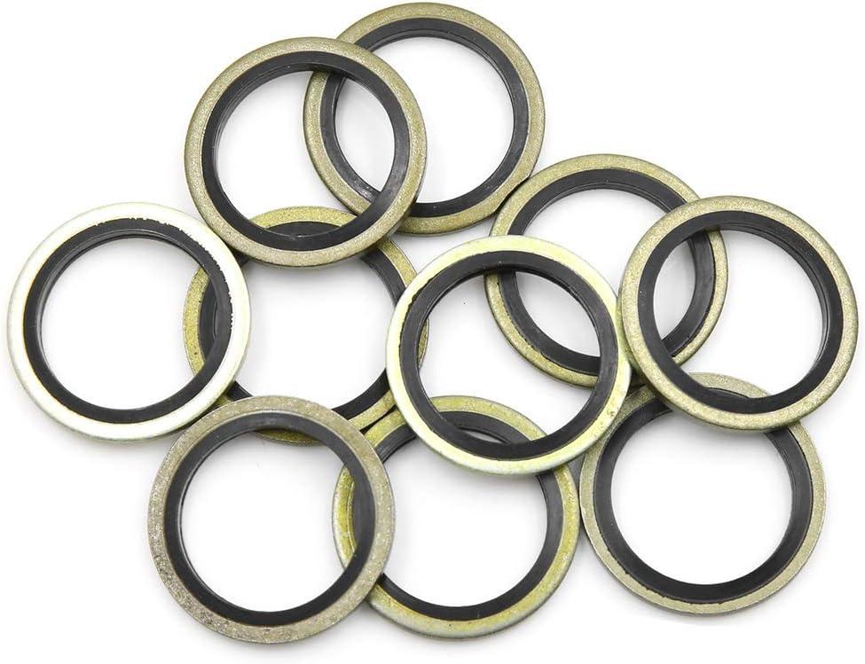 10 rondelle di Scarico per Olio Motore AUTOHAUX 20 mm ID Diametro Esterno: 28 mm.