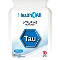 Health4All L-Taurine 500mg 120 Capsules (V)   Adrenal fatigue   GABA boost   Free UK Delivery