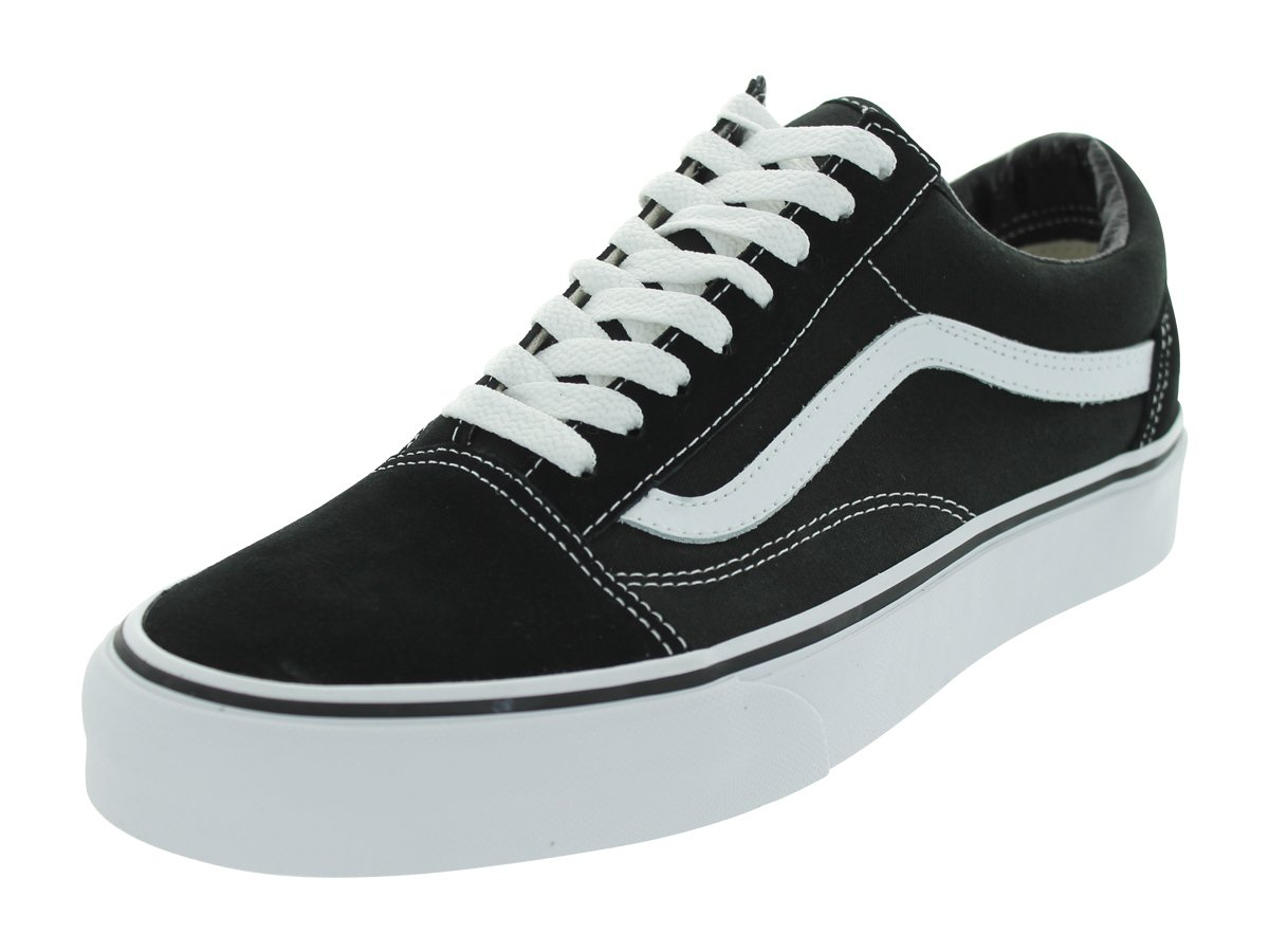 Vans Unisex Old Skool Black/White Skate Shoe 10.5 Men US/12 Women US by Vans