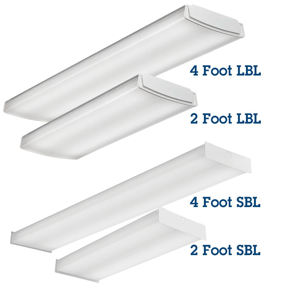 Lithonia Lighting LBL4 LP840 4-Feet Commercial LED Wraparound Indoor Light, White - Cable Ties - Amazon.com