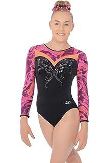 Vibe Long Sleeve Gymnastics Leotard 28 Black Pink Vibe Print  Amazon ... 8fc91e5354c