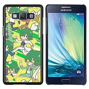 KLONGSHOP // Cubierta de piel con cierre a presión Shell trasero duro de goma Protección Caso - Modelo retro - Samsung Galaxy A5 A5000 //