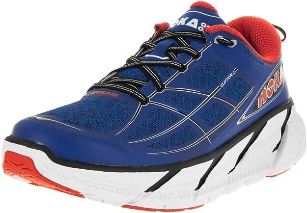 Hoka - Zapatillas de Running para Hombres Clifton 2 - Azul/Naranja ...