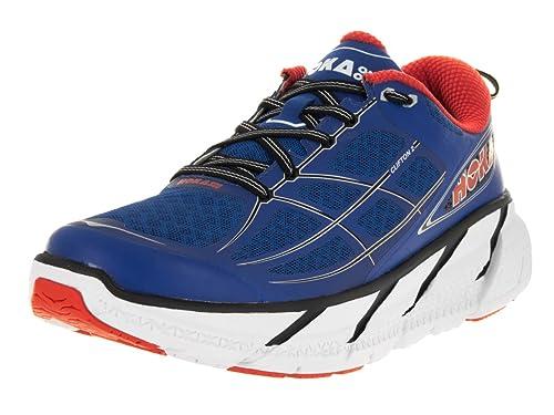 Hoka - Zapatillas de running para hombres Clifton 2 - Azul / Naranja, 41