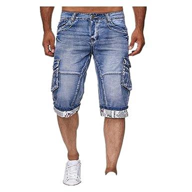Yying Hombre Pantalones Cortos Monos Vaqueros Denim ...