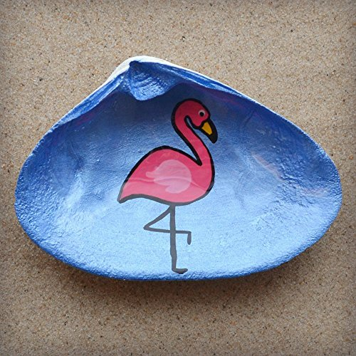 Flamingo-Clam-Shell-Dish-Spoon-Rest-Soap-Dish-Jewelry-Holder-Catch-all-Cranberry-Collective