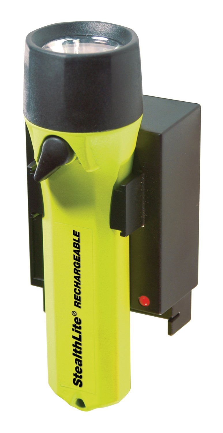 Pelican Flashlights 2450-010-245 Yellow Pelican StealthLite 2450ACF Rechargeable Flashlight