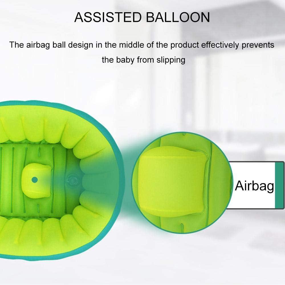 Womdee Baignoire Gonflable pour b/éb/é avec Pompe /à air et Patchs S