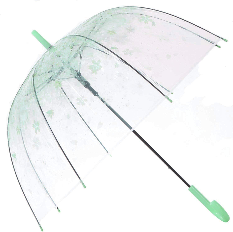 Paraguas Ni/ña Prueba de Viento y a Prueba de Lluvia Mango en J Paraguas para Adultos y Ni/ños Paraguas Transparente de Flor de Cerezo