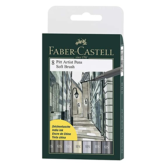 Faber-Castell Pitt Artist Pen Set - Pack of 8