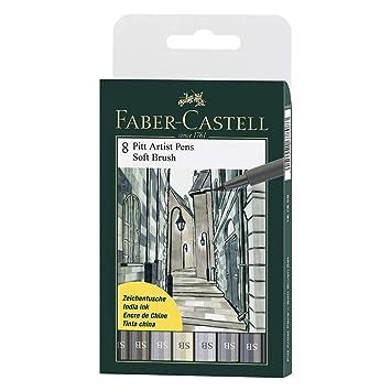 FABER-CASTELL PITT artist pen Shades of grey 6er Etui