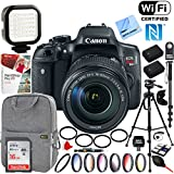 Canon (0591C005) EOS Rebel T6i Digital SLR Camera with EF-S 18-135mm IS STM Lens + 16GB SDHC Memory and Pro Accessory Bundle