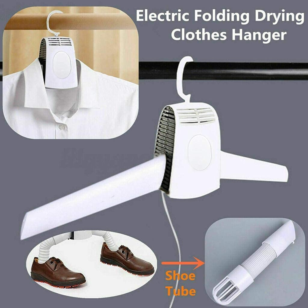 Electric Clothes Drying Rack - Multifunction Portable Shoes Clothes Rack Dry, Cold and Hot Wind Electric Drying Rack Eliminate Bad Odors and Wrinkles, No Mess and No Damage - Clothes Drying Rack