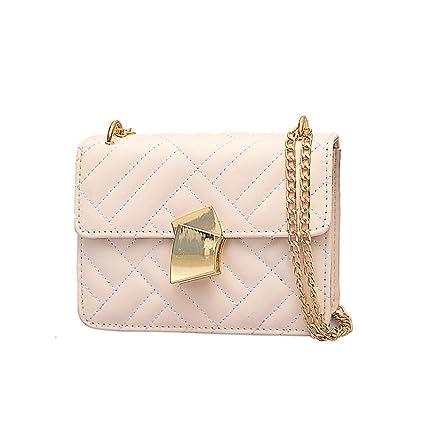 1242ce40528b Amazon.com: Onefa Shoulder Bag Embroidery Fan Lock Women Simple ...