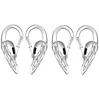 Gancho Clip Orelha Silicone Ear Hook Fone AirPods AirPods 1 e 2 (Transparente (incolor) ** 1 Par **)