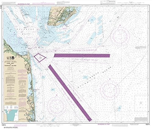 Paradise Cay Publications NOAA Chart 12214: Cape May to Fenwick Island 35.2 x 41.4 (TRADITIONAL PAPER)