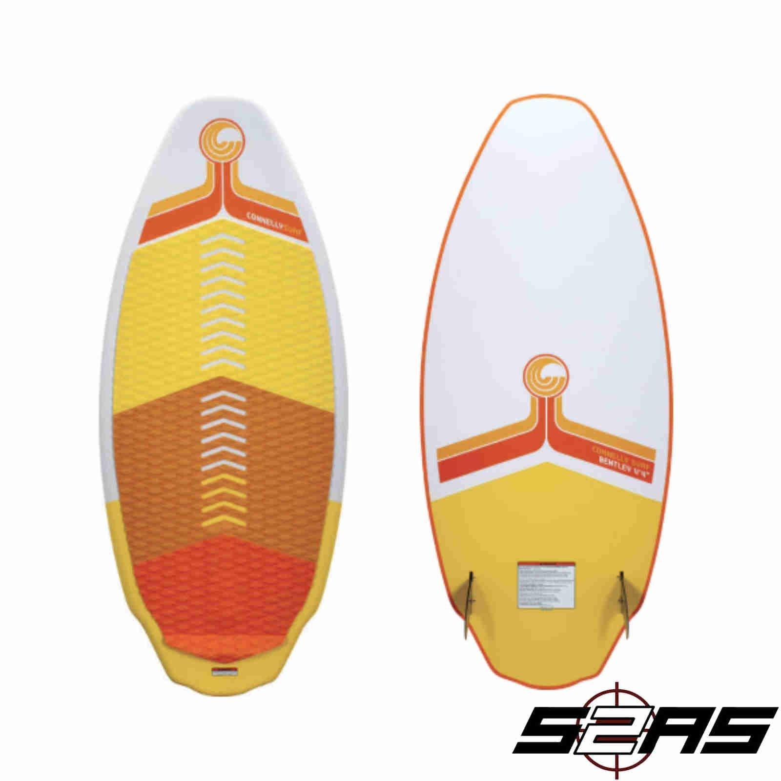 CWB Connelly Bentley Wakesurf Board 4'4'', Hybrid Shape w/Twin Fins by CWB