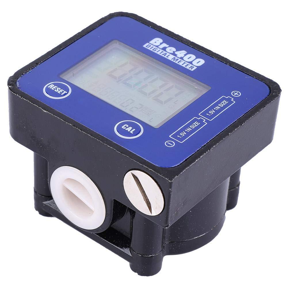 Liukouu Blue LCD Display High Accuracy Aluminum Alloy Fuel Diesel Flow Meter 1//2