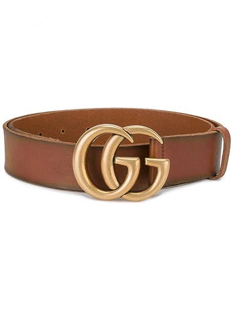 Gucci Mujer 409416Cve0t2535 Marrón Cuero Cinturón  Amazon.es  Ropa y  accesorios e7ed2f2385a