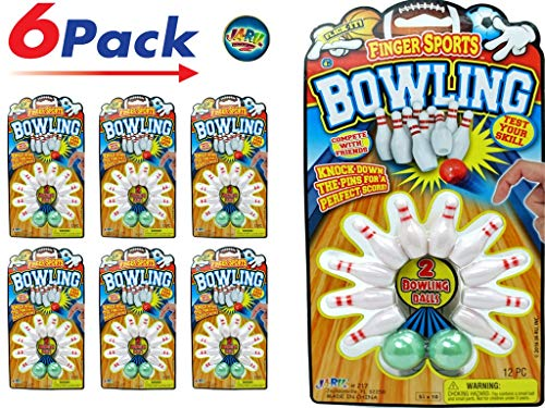 (2GoodShop Finger Bowling Game (Pack of 6) and one Bouncy Ball by JA-RU | Mini Bowling Set for Kids | Item)