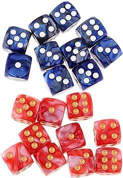 Hellery 20pcs Número De Punto Blanco De Seis Lados Dados para Juegos De Mesa Suministros De Fiesta De Casino: Amazon.es: Juguetes y juegos