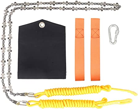 48/'/' inch High Reach Tree Limb Hand Rope Chain Saw Blades on Both Sides
