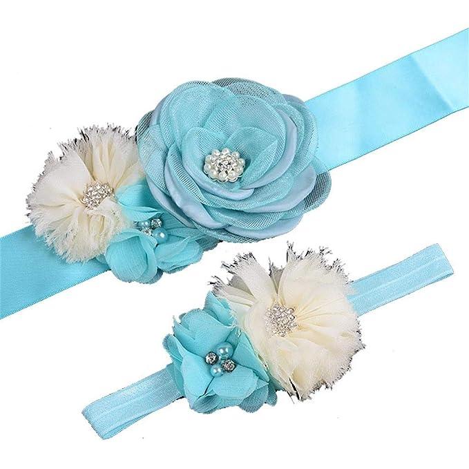 Cinturón de maternidad para mamá a ser bebé, niñas, flores, para baby shower, boda: Amazon.es: Juguetes y juegos