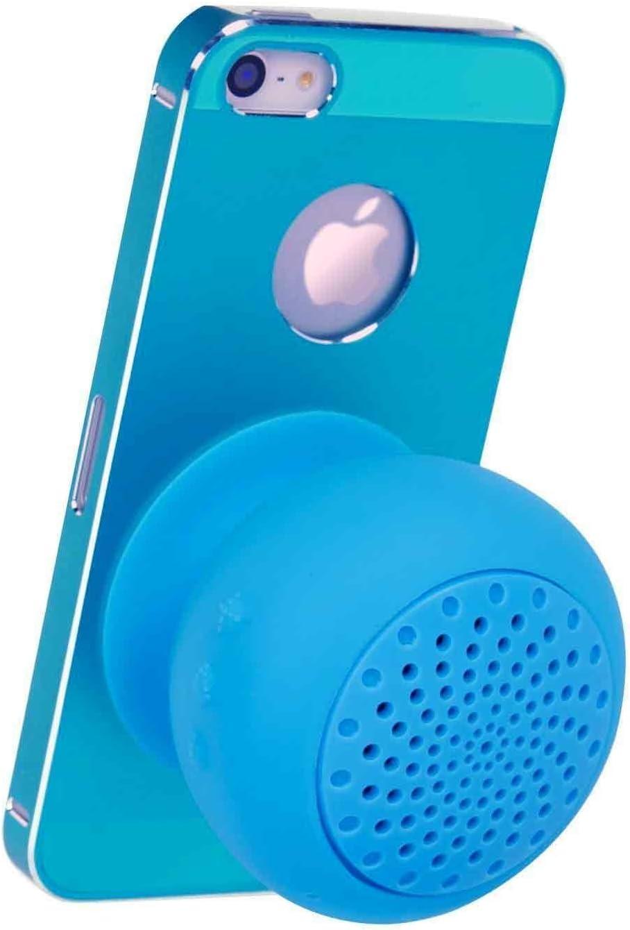 Blue amtonseeshop Waterproof Mini Mushroom Wireless Bluetooth Speaker