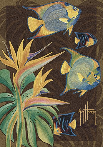 Milliken 4000054950 Tropical Fish Area Rug, 5'4