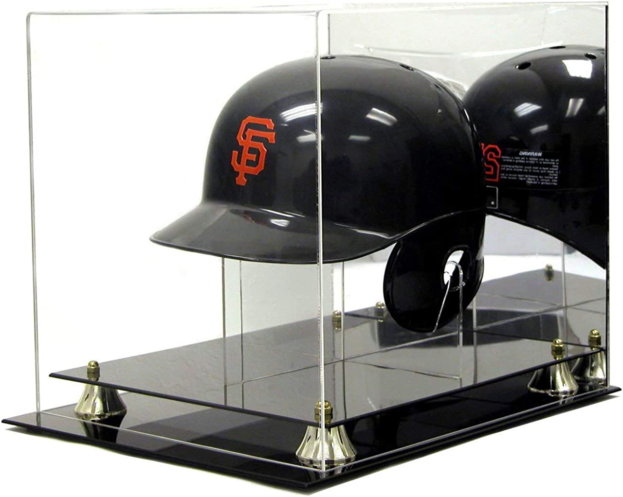 Image of Deluxe Acrylic Baseball Helmet Display Case w/ Stand Display Cases