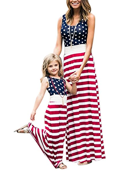 be27e1c6d4572 Umeko Mommy and Me Dresses Floral Maxi Dress Matching Set, Women & Girl's  Dress