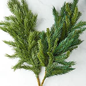 Factory Direct Craft Group of Assorted Green Color Artificial Pine Branches - 2 Branches