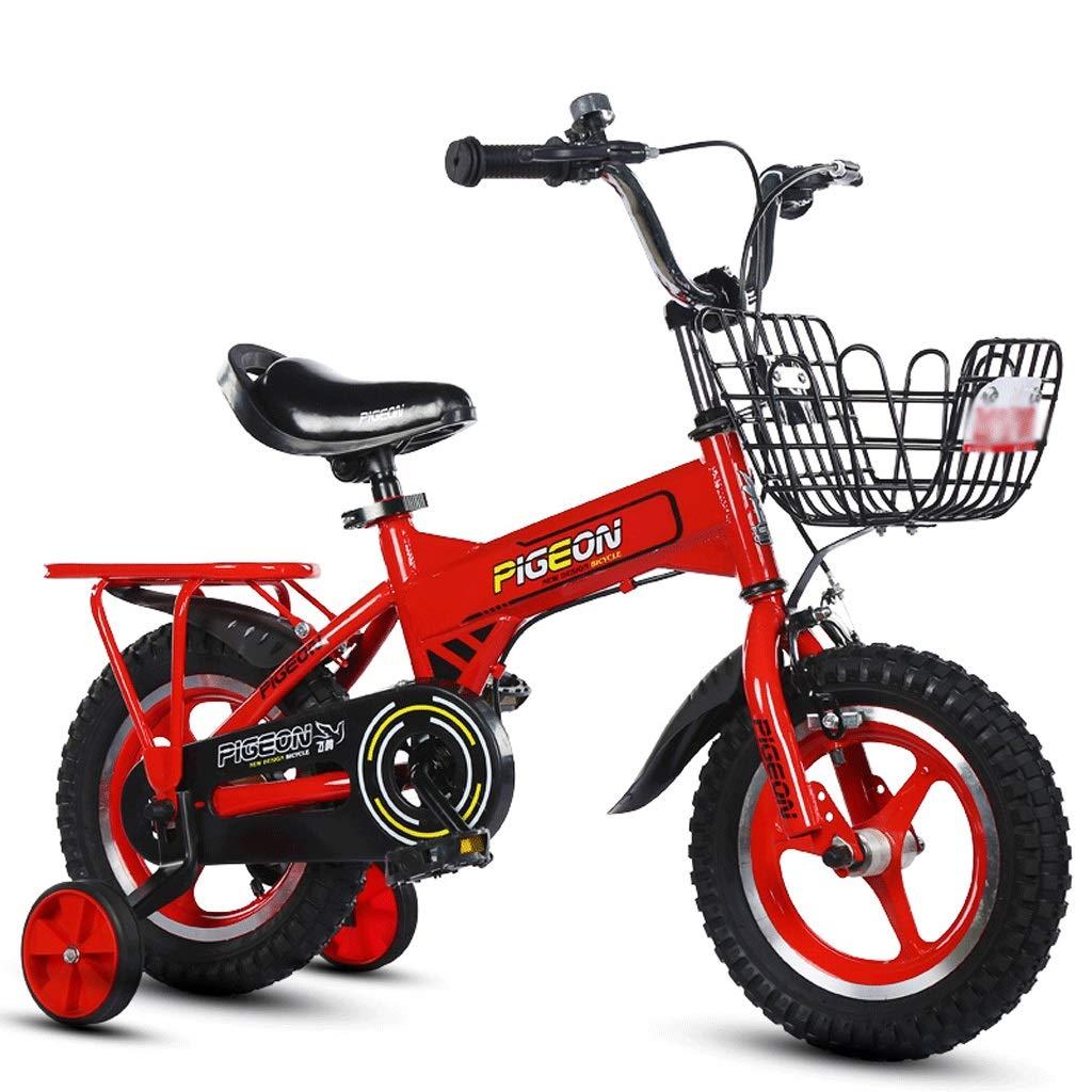 rot  2-12 in LI HAO SHOP Kinderfahrräder, Babyfahrräder, Kinder-Mountainbikes, Mountainbikes, Kindergeschenke (Farbe   rot, Größe    2-12 in)