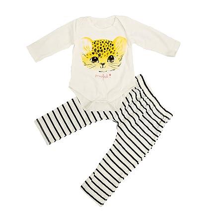 sukisuki bebé manga larga ropa Set, diseño de gatos para bebé niñas Pelele Jumpsuits Pantalones