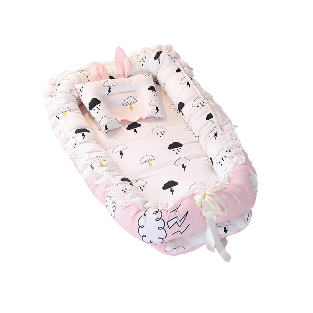 ETbotu Baby Detachable Mattress Baby Nest Newborn Babynest Sleep Bed Rain Cloud 905515CM