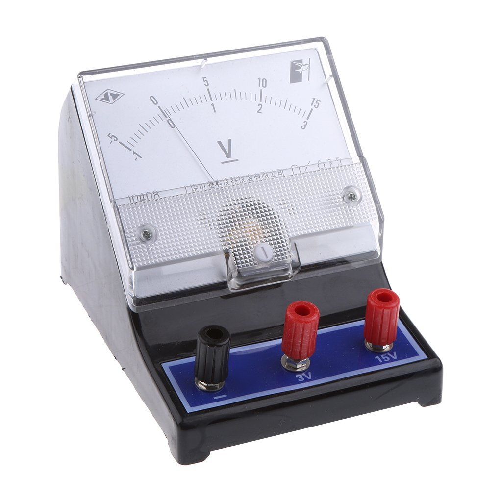 Baosity Analog Voltage Panel Meter -1-0-3V and -5-0-15V