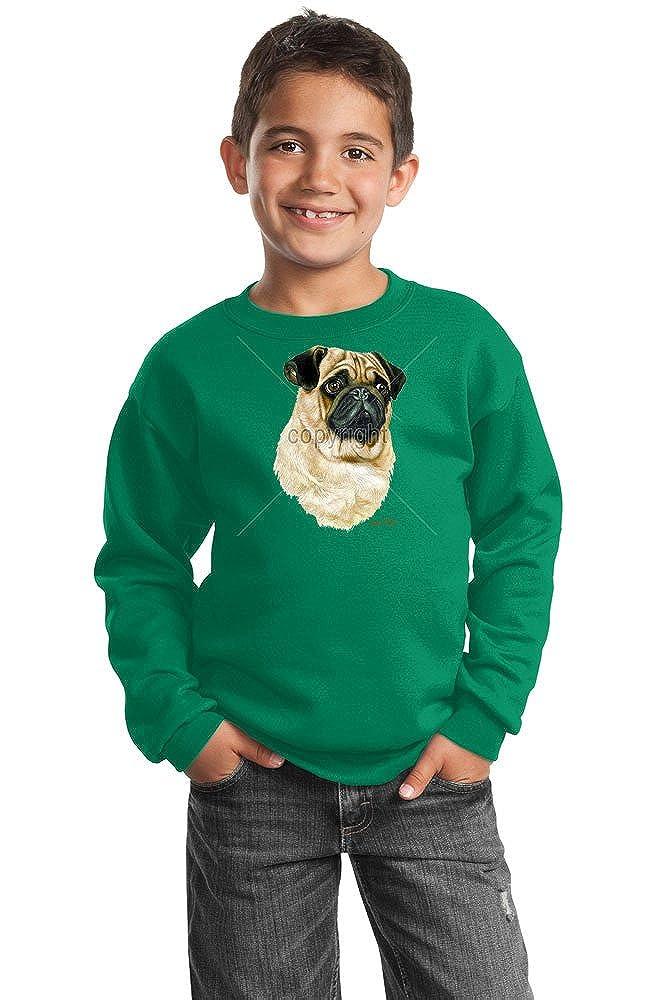 Pug Youth Sweatshirt by Robert May