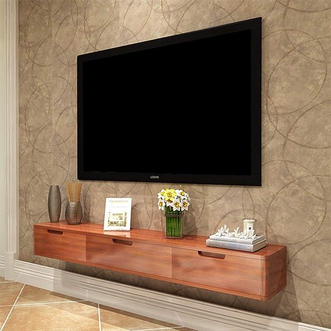 ZPWSNH Mueble de Estante para televisor montado en la Pared Estante de Juegos de Consola de Entretenimiento Multimedia con cajones para el hogar Mueble para TV de Pared: Amazon.es: Hogar