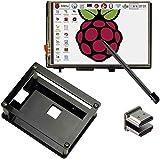 cocopar®Raspberry Pi 3.5インチHDMI LCD タッチモニタ ディスプレイ モニター タッチスクリーン 1920x1280ハイビジョ  Pi 3B 2B B A A B 用 保護 ケース付き