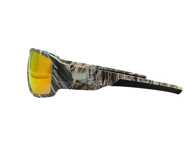 Tryway meilleure qualité de lunettes de soleil pour homme Sport Outdoor Camouflage Cadre Marron UV Lunettes polarisées Cheap classique pour homme Frames Goggle Cool Pêche Lunettes Design Polaroid Lune PrD8GBbggF